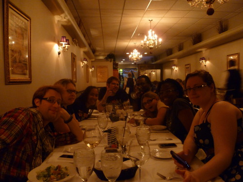 lepetitdragon:  redvedev:  This was a really swell evening. with Ryan, Allie, Khadijah, a giant Swedish man, Saint, Amanda, Divi, Lydia and the chump that took the photo.  <3 <3 <3 all my loves for all of you~~!    Allie why
