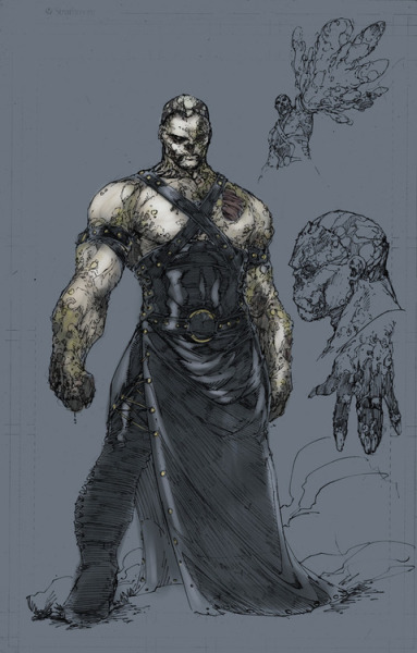 Booth does another redesign for the New 52,Solomon Grundy..I would have liked him to be a little bulkier but all in all looks pretty sick  I'm usually all for redesigns.  Change is good… but I don't think I love S&M Grundy here.