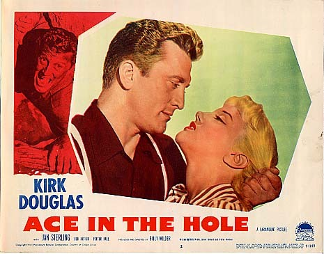 Tonight's TCM Party at 8 p.m. Eastern / 5 p.m. Pacific is Billy Wilder's ACE IN THE HOLE (1951) starring Kirk Douglas as a down-and-out reporter looking to make a comeback. With your host @WillMcKinley -  watch and tweet along with #TCMParty