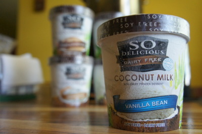 Product Under Review:  So Delicious Coconut Milk Vanilla Bean Ice Cream Nutrition Facts:  This marks the first time I've had actual ICE CREAM (and not fro-yo) in months, probably years. I'm crazy for actually doing it. Truth is, I'd always see it when I go shopping.. I've just been in that paleo mindset, on top of avoiding processed food for a long while that I never really thought of getting it. What changed my mind, you ask? I have no clue. It's okay though, CrossFit helps me burn through this. It's your basic vanilla, nothing special. You can definitely taste the coconut though (And probably in all the other coconut milk ice creams they make), but it's not necessarily a bad thing, especially if you like that coconut. I mean why else would you be buying a COCONUT MILK MADE ICE CREAM? Anywho, this brought me back. Back to the days where I was a little chubster and would have a bowl of Breyer's vanilla every night. Given, this can't really compare to Breyer's because: They use milk. There's so many more additives in there compared to these that.. Eating the So Delicious vanilla bean felt.. Right. All in all after that pointless, long rant: It's sweet, tasty, perfect to mix with smoothies if you want that pinch of coconut vanilla flavor and the creaminess of ice cream, or just eat straight out the pint on a hot summer day.  ©robJAR