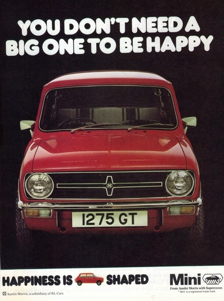 car-advertising:  Mini Clubman 1275GT