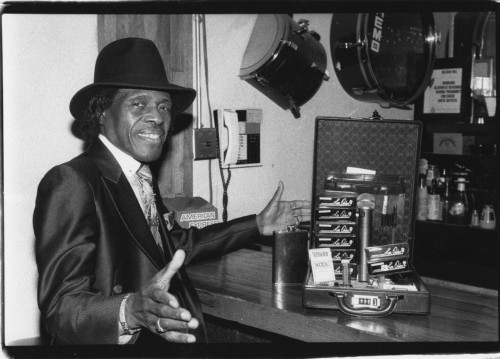 Junior Wells and Harmonicas at Lone Star Roadhouse, NYC around 1992 photo (c) Alan Strauber (all rights reserved) 7.5.12