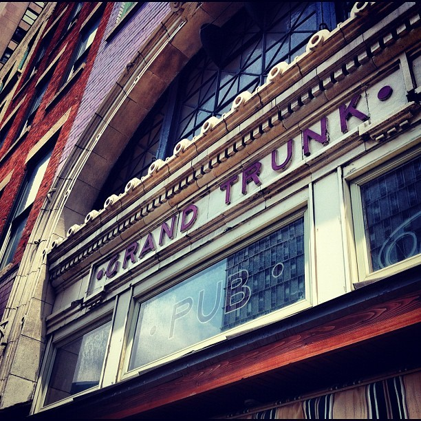 Grand Trunk Pub. #detroit #history #railroad #food (Taken with Instagram)