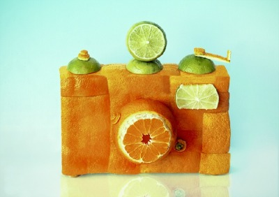 Food Sculptures That Resemble Cameras by Dan Cretu