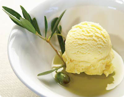 Olive oil ice cream with sea salt - the most delicious and unexpected combination. Mario Batali has a great version at his NY restaurant, Otto.