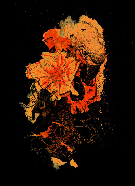Pollination Dark Fire Prints, Skins, Shirts, Hoody > http://society6.com/nicebleed/Pollination-Dark-Fire_Print