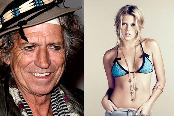 The genetic lottery is a funny thing: Keith Richards and his daughter Alexandra.