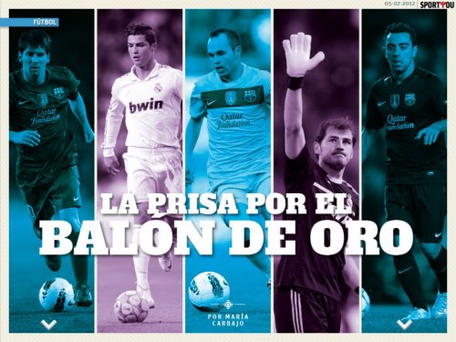 The fightning for the Ballon d'Or.