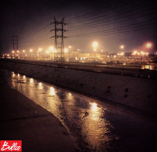 bullco:  LA River at night.