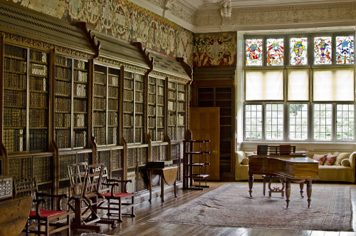 The library at Blickling hall, UK (via)
