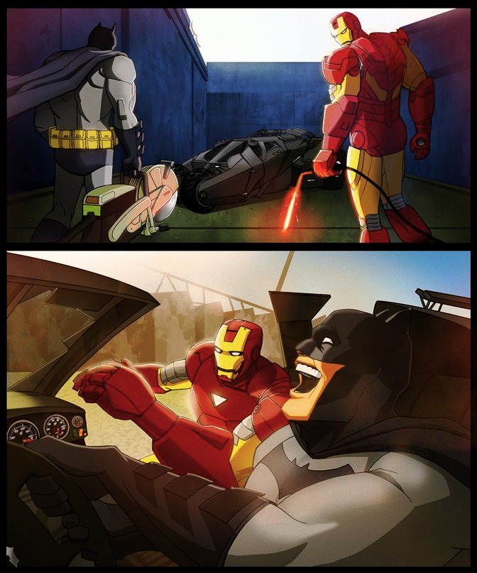 m7781:  by marco d'alfonso batman x iron man -OTIS by *m7781