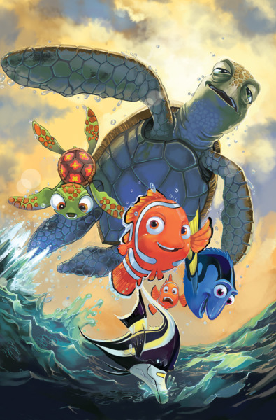 art-and-shenanigans:  Finding Nemo Cover Issue 1 by *lazesummerstone