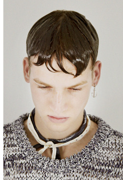 eskinny:  thebookagency: Hair test with Guido Palau before Louis Vuitton Menswear show SS13. Photographed by Brett Lloyd.