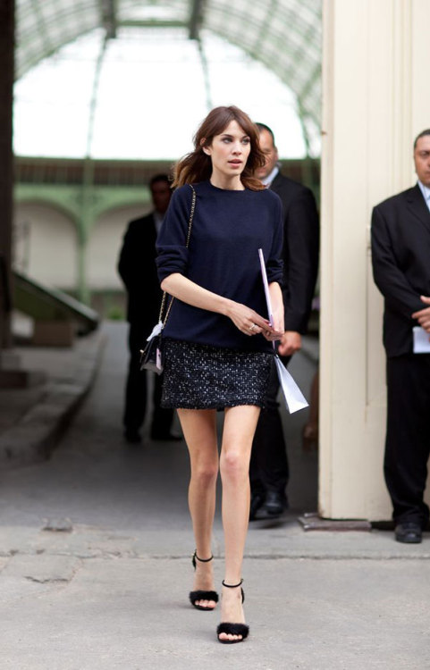 labellefabuleuse:  Alexa Chung at Chanel Haute Couture, Fall 2012