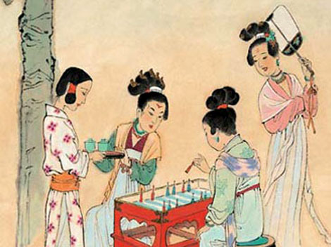 jindynasty:  Shuanglu (Backgammon set) was an ancient dice game that has been lost. As a game similar to the flying chess, Shuanglu should have been a popular game in ancient China according to records in literary works and cultural relics handed down. Shuanglu might have been an exotic game integrated into our national culture, thus becoming an ancient game of China. Ever since its introduction to China, it became popular in Wei during the Three Kingdoms Period, and thrived in the Southern and Northern Dynasties, Sui, Tang, and Song until the Yuan Dynasty. Records about the game increased in the Tang Dynasty, while in Song, it became more prevalent everywhere. During the time, the Shuanglu set was provided in wine and tea shops in the north, so that people could play the game while drinking tea. In the Yuan Dynasty, the game was much loved by men of letters and gifted scholars, for which we could find evidences in the excellent literary works on Shuanglu by the poet Liu Guan, Yuan verse composer Zhou Deqing and playwright Guan Hanqing. Up until the Ming and Qing Dynasties, the game was found declining in popularity; however, it was still mentioned in the novels and plays such as the Plum in the Golden Vase, Marriage of the Flowers in the Mirror and A Wrong Kite. Probably it was because of the prevalence of Chinese chess that Shuanglu, the dice game with a proven history of over 2000 years in China, was gradually washed out of time, until it became totally lost.  [Source] (Think that's about all I have on games, but I'll keep my eyes open in case anything else pops up)