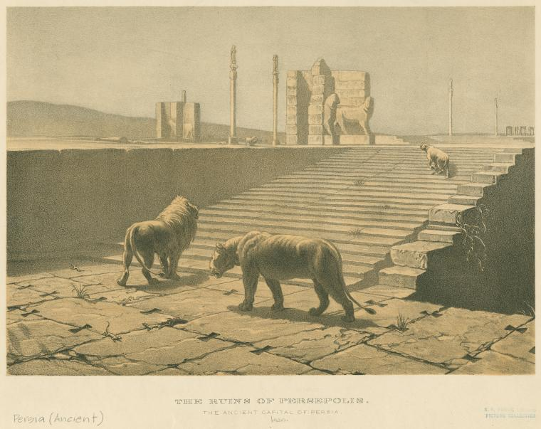 (via The ruins of Persepolis : the anicent capital of Persia - ID: 1623963 - NYPL Digital Gallery)