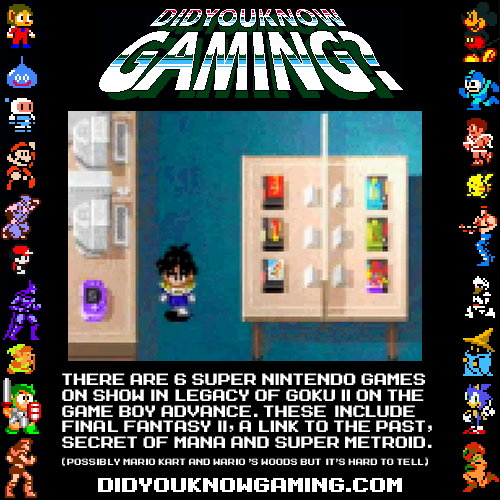 didyouknowgaming:  Dragonball Z Legacy of Goku II.  Submitted by Stan Marsh.