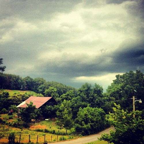 Bring it! #landscape #thunderstorm #storm #clouds #weather (Taken with Instagram)
