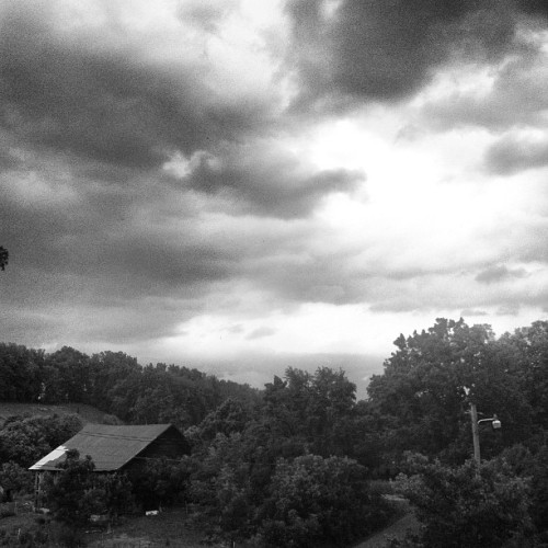 Here comes the wind! #landscape #thunderstorm #storm #sky #clouds  (Taken with Instagram)