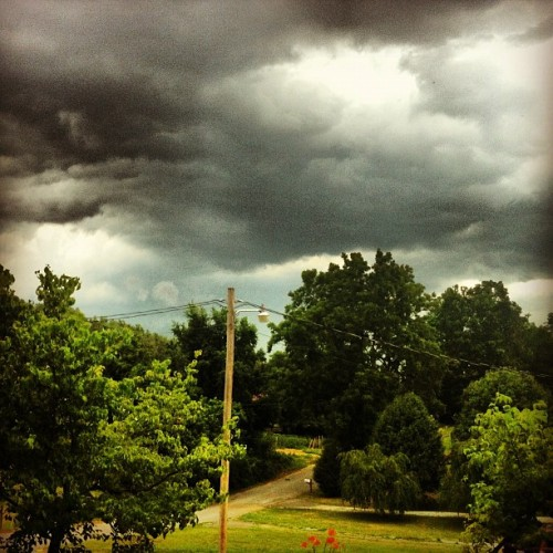 Yee haw! #landscape #thunderstorm #clouds #sky  (Taken with Instagram)