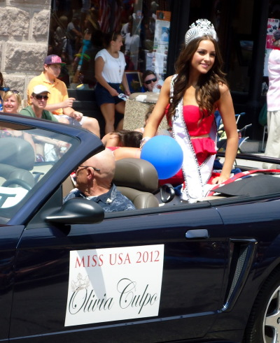 Another gorgeous photo of Miss USA 2012 Olivia Culpo in Bristol's fourth of July parade.