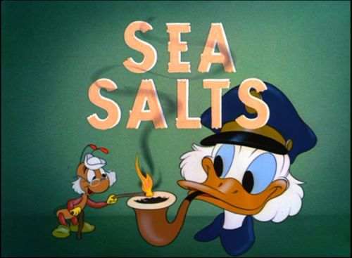 dfilms:  Title card for Sea Salts, 1949.
