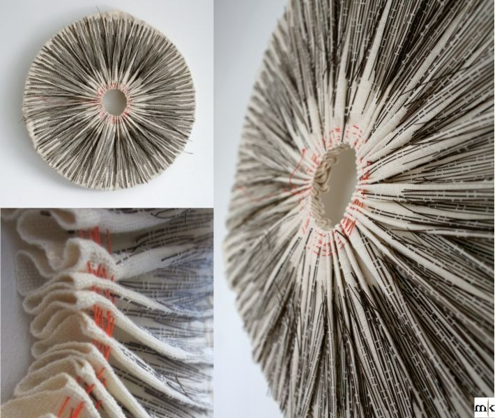 Round and Bound by Marianne Kemp Plantfibre woven into a cotton base.