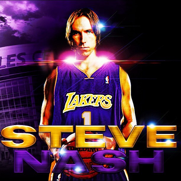 Haven't been this excited about a white dood joining the #Lakers since…ugh, ever. #Nash (Taken with Instagram)