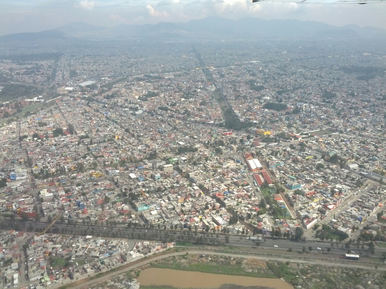 #2.  Mexico City from the air.