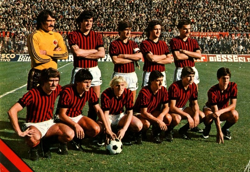 AC Milan, 1978/79. Source: Postcard