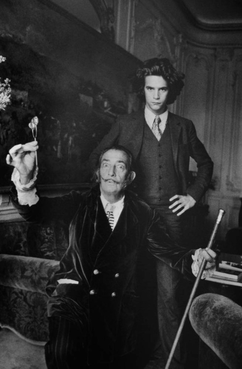 Salvador Dalí and a young Yves Saint Laurent by Alécico de Andrade