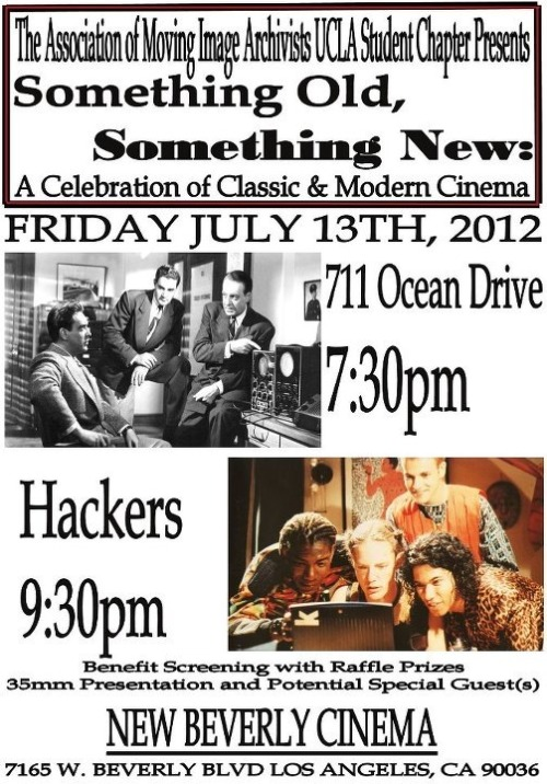 Come to the NEW BEV this FRIDAY or a weird/awesome night of old and new technologies on film!