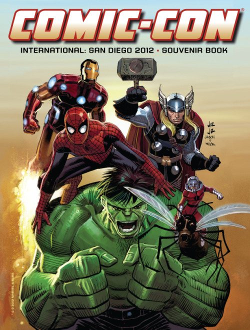 comicimpact:  Comic-Con International 2012 Souvenir Book Cover by John Romita Jr