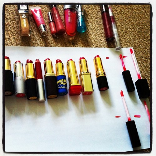 Plus I own another 21 lip colours including 13 additional reds. LUNACY!! (Taken with Instagram)