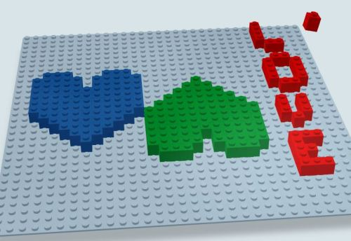 Love in Lego (http://www.buildwithchrome.com/)