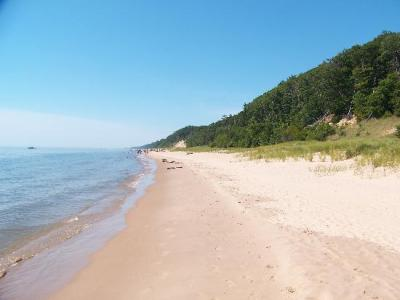 Ahhhhhhhhh… Lake Michigan Beach!  Makes a 100+ day bearable.  :)