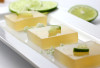 "ffffood:  Margarita Lime Jello Cubes (Shots) ""Tart and potent, these jiggly cubes of margarita go down easy, especially when dipped into a sweet lime sugar that brings a definite ""Pow"" to the senses when popped into your mouth.  """