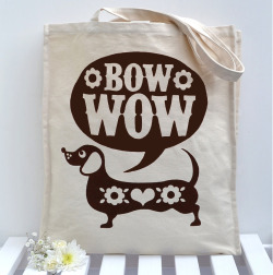 sausage dog tote bagsnowdon design and craft£8.95