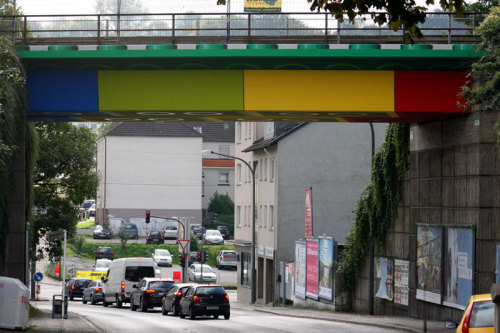 jaymug:  Giant Lego Bridge in Germany by street artist Megx.