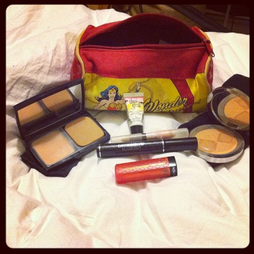 "THIS is what constitutes ""I can't be arsed to do my make up"" kit. Seriously. I'm insane  (Taken with Instagram)"