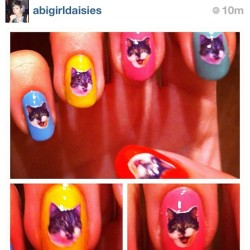 @abigirldaisies got her cat on her nails with my DIY Decals! What would you get?! (Taken with Instagram)