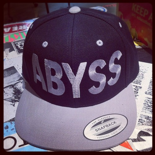 One of Two new #abyss_crew hats dropping this month. #abyss #snapback #black #silver #headwear #streetwear  (Taken with Instagram)