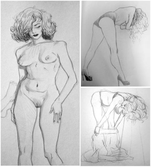 sakarisketches:  Dr Sketchys July 3rd 2012