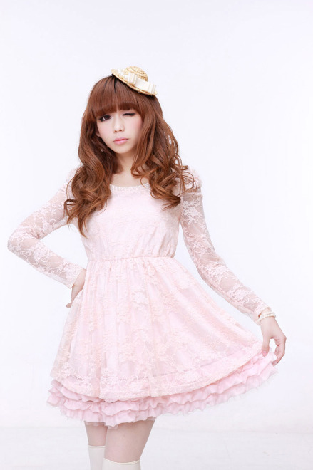 Sweet Pearl Lace Dress by Love Fish