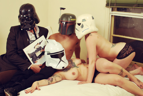 Secret Storm Trooper Photos with Prostitutes Before The Emperor's Visit!