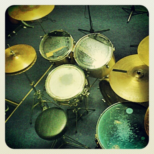 My throne!!! #Druming (Tomada con Instagram)