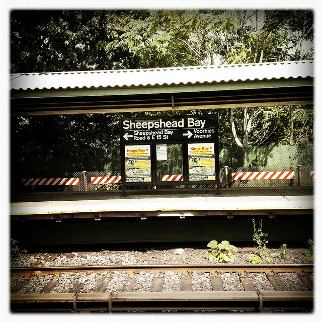 sheepshead bay station. on Flickr.A couple of times a year, I like to make my so-called pilgrimage to my childhood neighborhood of Sheepshead Bay in Brooklyn. My family moved to Bayside, Queens in July of 1981, right after I finished first grade. My grandparents still lived there and we made frequent visits for many years. The neighborhood has changed so much over the past 30 plus years, but I have so many fond memories and always go back.