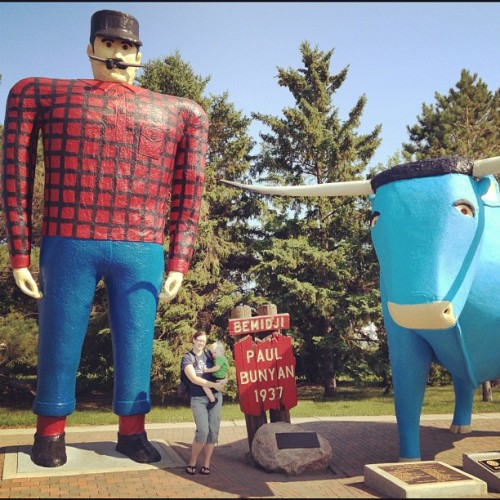 Tricia and Dean (Taken with Instagram at Paul Bunyan & Babe The Blue Ox)