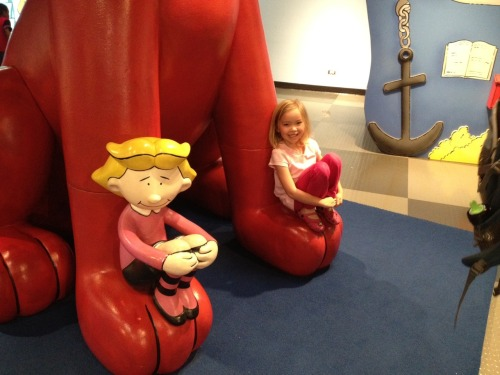 Phia with Emily Elizabeth at the Children's Discovery Museum