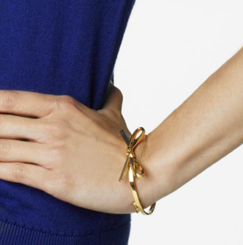 aculturedpearl:  I love the new Kate Spade bow bangle!